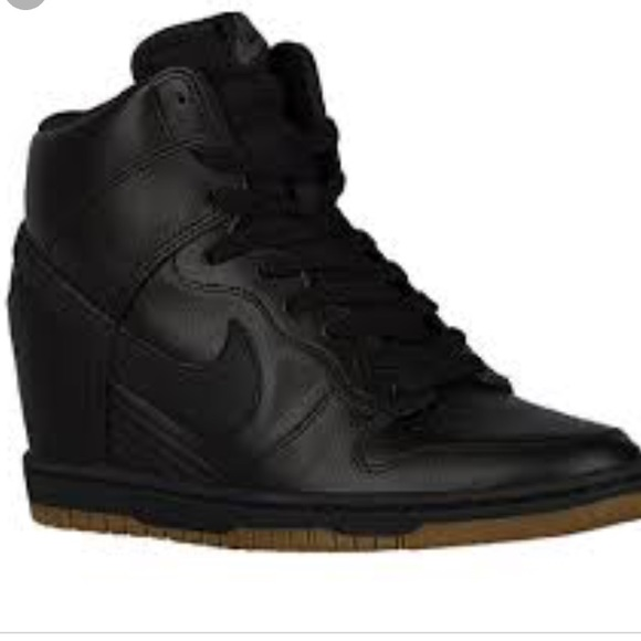 Nwot Nike Dunk Sky Hi Leather Wedge